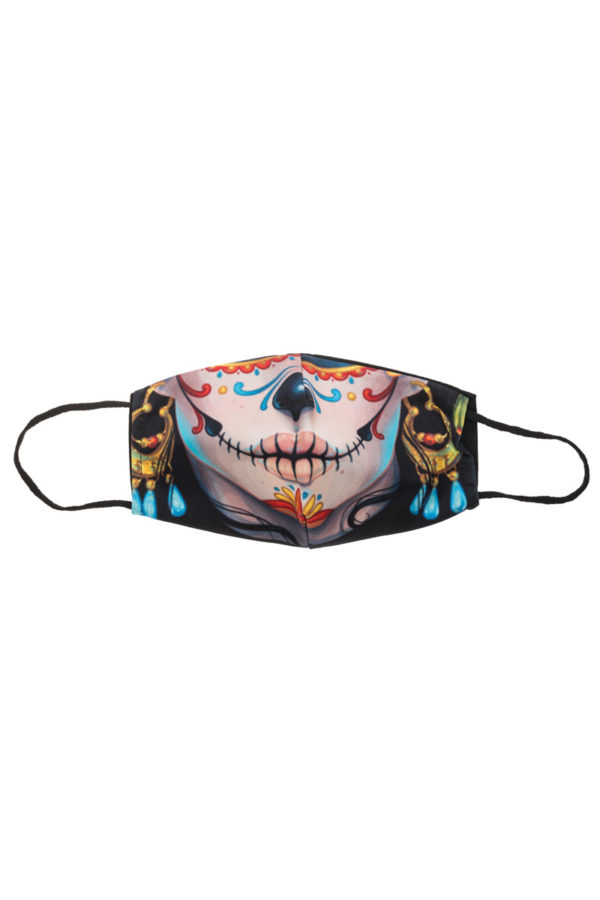 Στόμα Dia De Muertos Υφασμάτινη Μάσκα Επαναχρησιμοποιούμενη