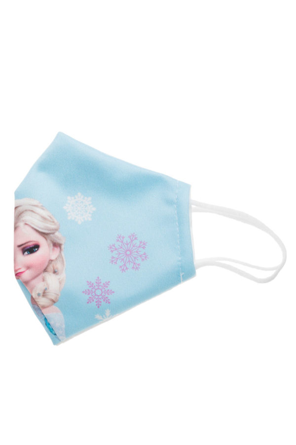 Elsa Frozen Snowflakes Παιδική Υφασμάτινη Μάσκα Επαναχρησιμοποιούμενη
