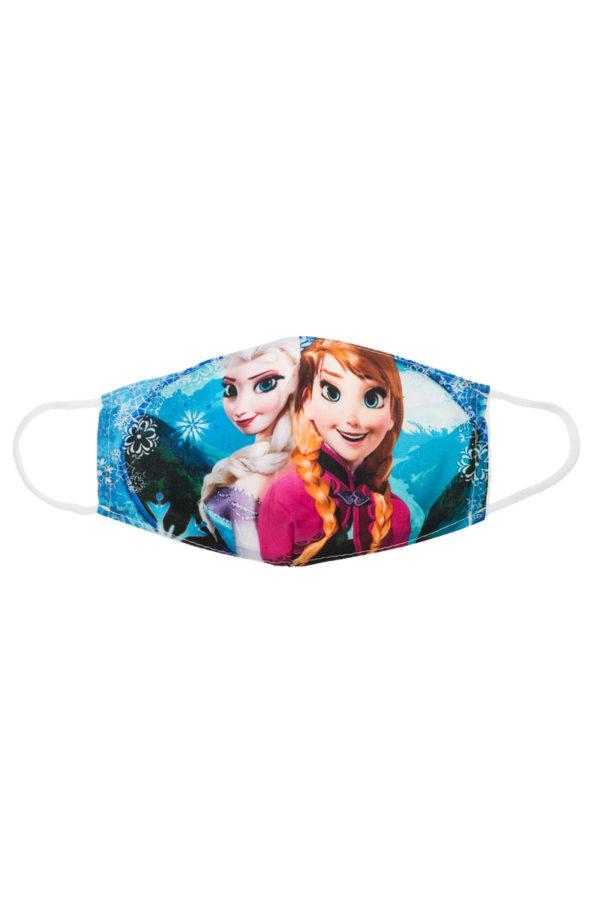 Elsa & Anna ΙΙ Παιδική Υφασμάτινη Μάσκα Επαναχρησιμοποιούμενη