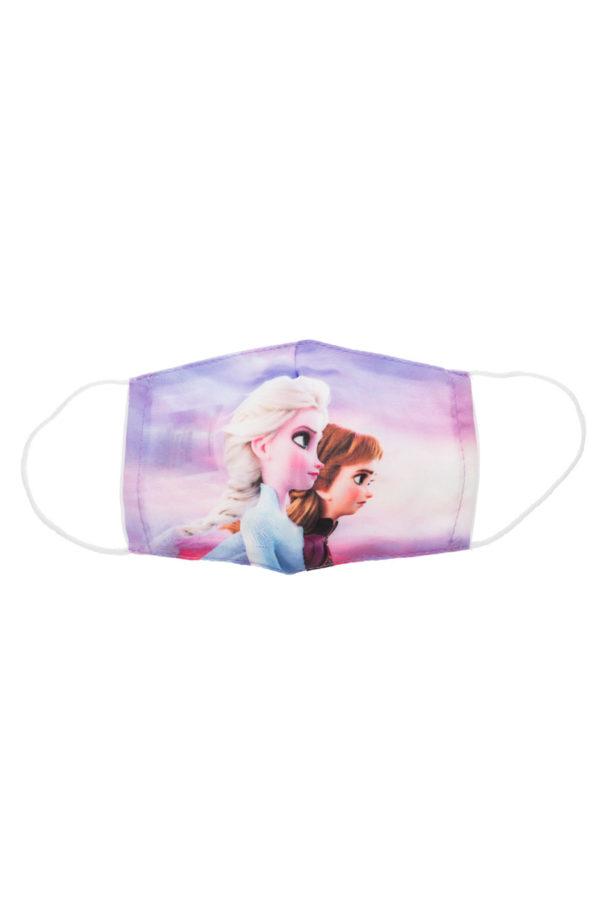 Elsa & Anna Μοβ Παιδική Υφασμάτινη Μάσκα Επαναχρησιμοποιούμενη