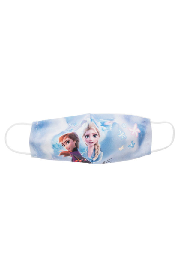 Έλσα & Άννα Σύννεφα Παιδική Υφασμάτινη Μάσκα Επαναχρησιμοποιούμενη