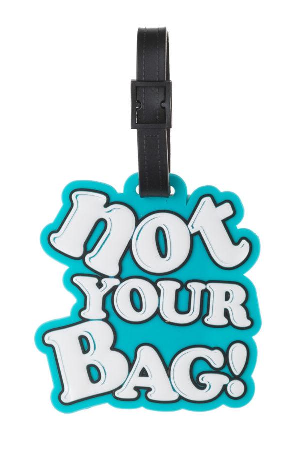 Γαλάζια Ετικέτα Βαλίτσας Not Your Bag Luggage Tag