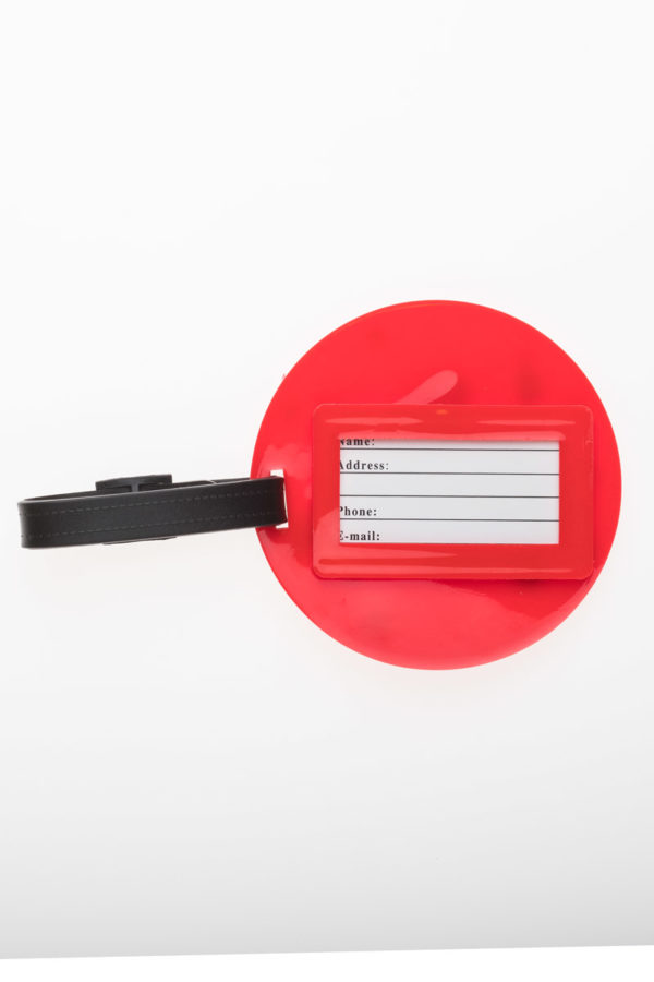 Ετικέτα Βαλίτσας Κόκκινη Μονόκερος Round Luggage Tag