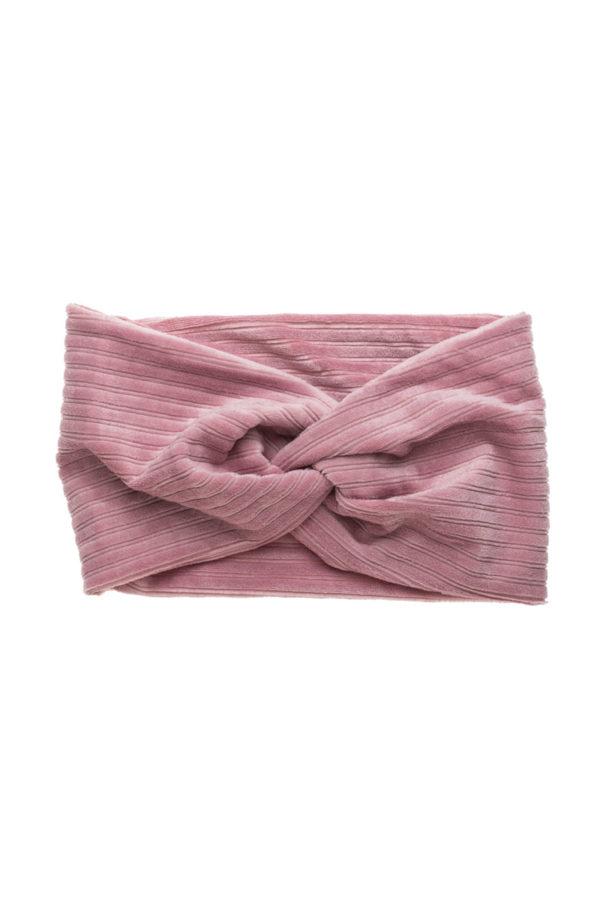 Ροζ Βελούδινη Κορδέλα Μαλλιών Τουρμπάνι Rip