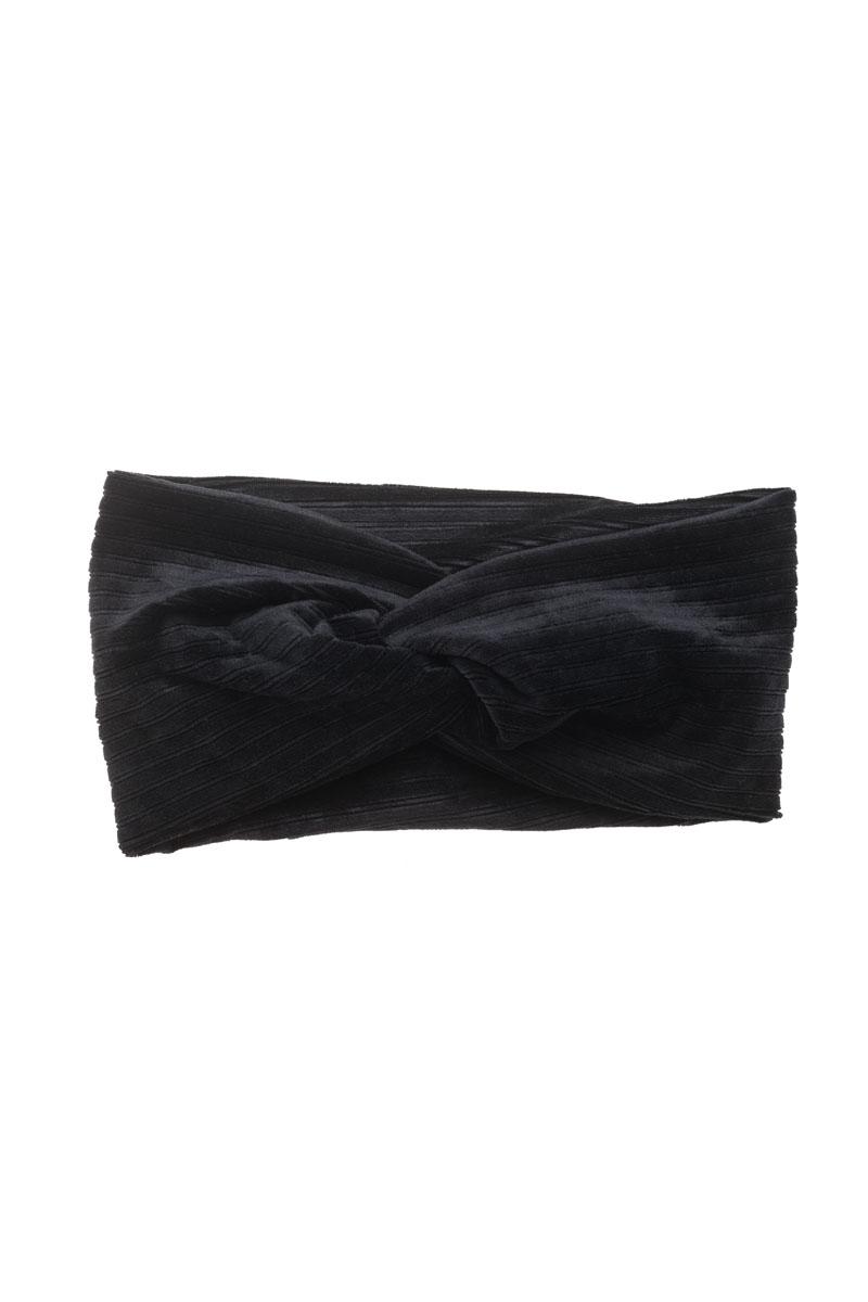 Μαύρη Βελούδινη Κορδέλα Μαλλιών Τουρμπάνι Rip