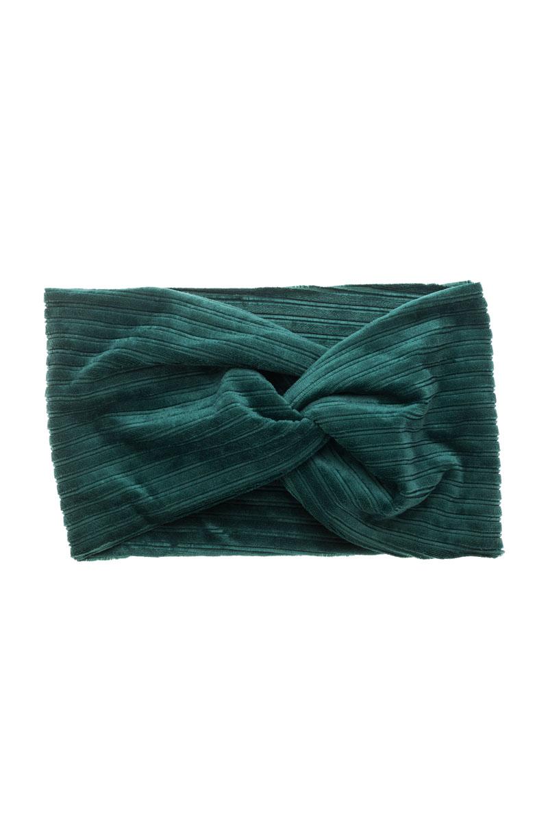 Πράσινη Βελούδινη Κορδέλα Μαλλιών Τουρμπάνι Rip