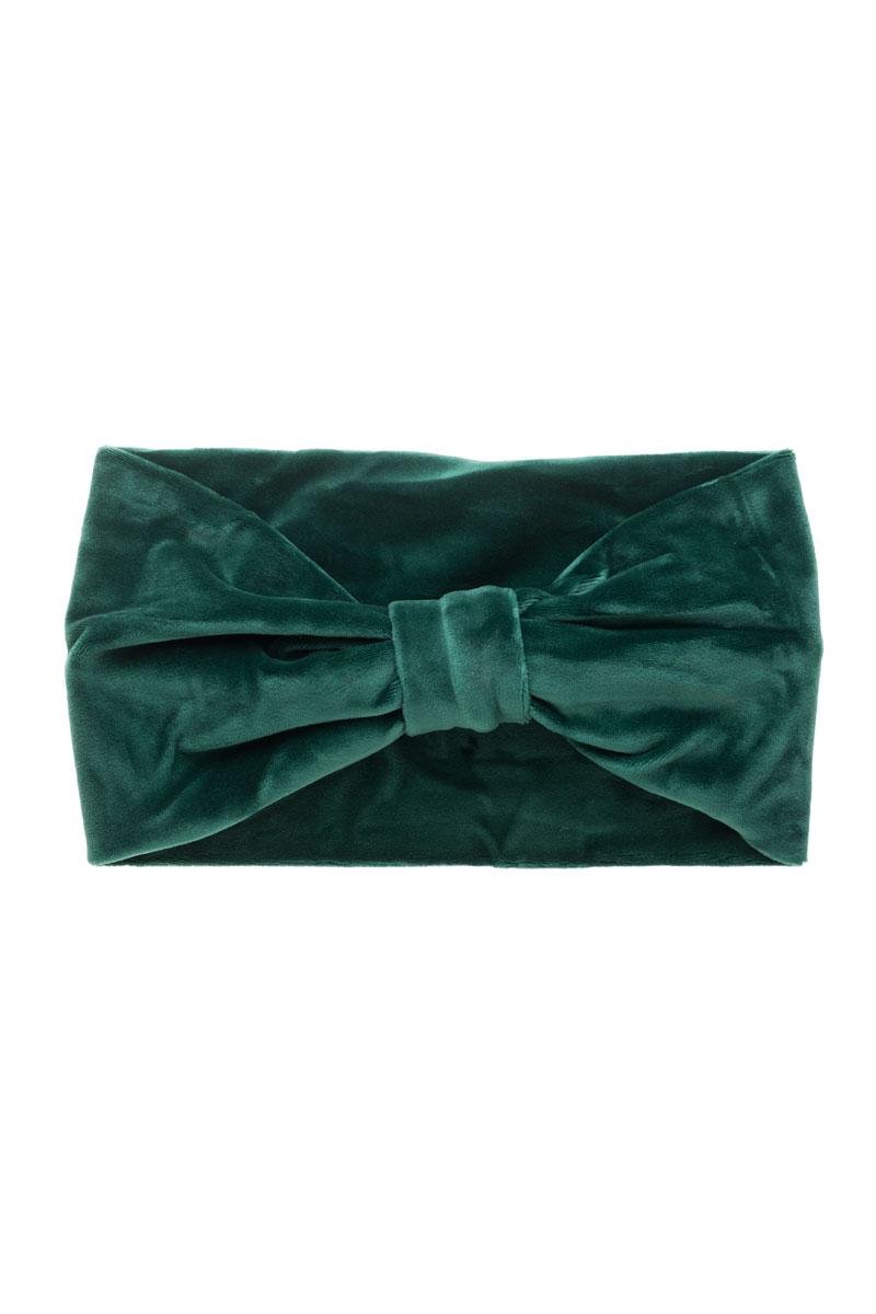 Βελούδινη Κορδέλα Μαλλιών Φιόγκος Πράσινη
