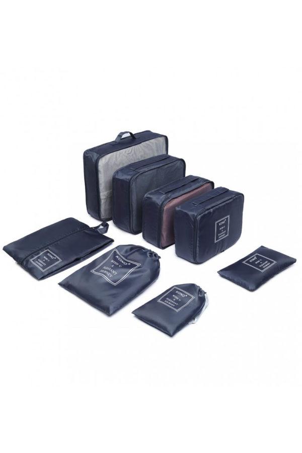 Μπλε Cubes Τσάντες Οργάνωσης Ταξιδίου Σετ 8