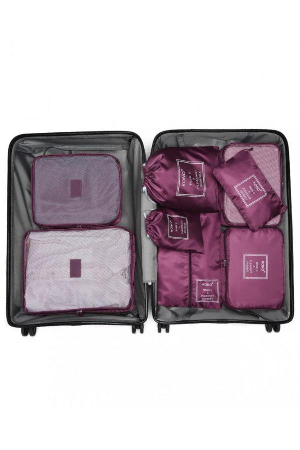 Μοβ Cubes Τσάντες Οργάνωσης Ταξιδίου Σετ 8