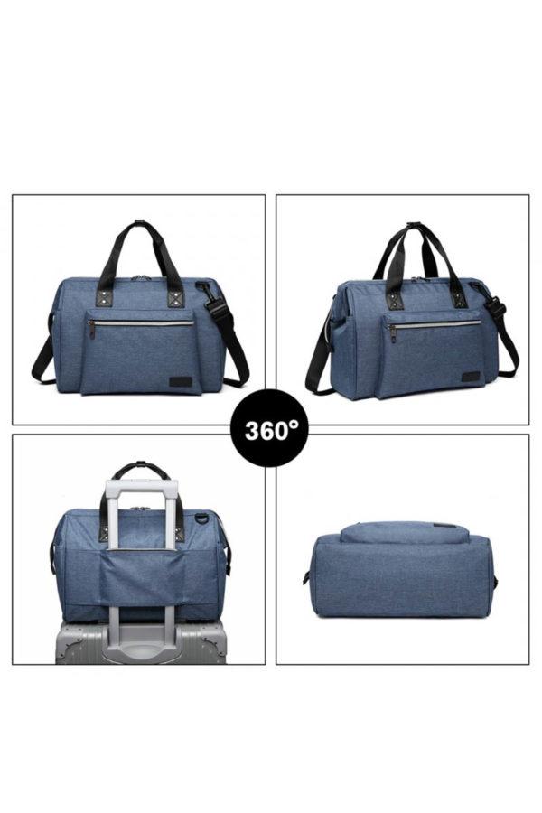 Γαλάζια Τσάντα Αλλαξιέρα Ταξιδίου
