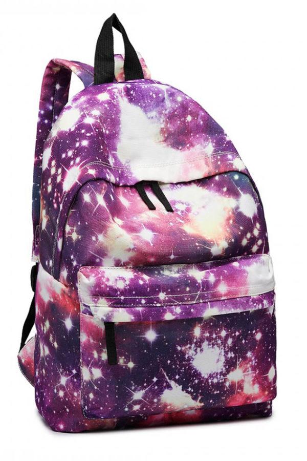 Μοβ Σακίδιο Τσάντα Πλάτης Galaxy Universe