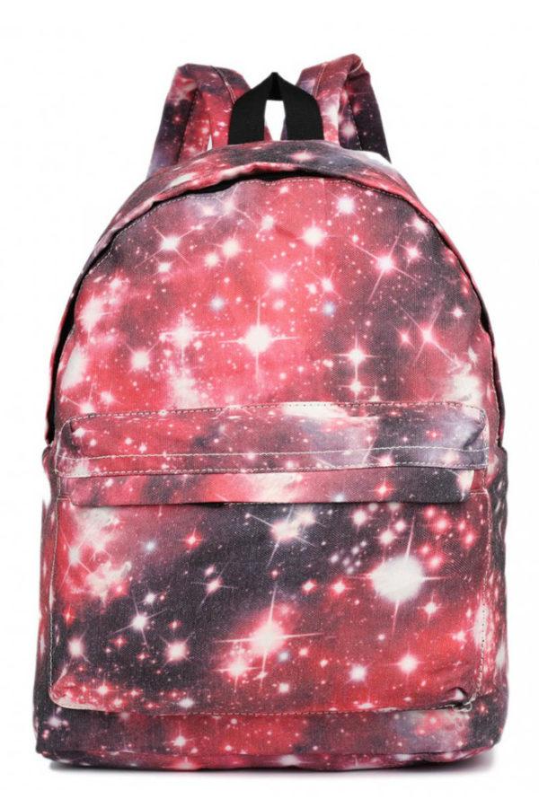 Κόκκινο Σακίδιο Τσάντα Πλάτης Galaxy Universe