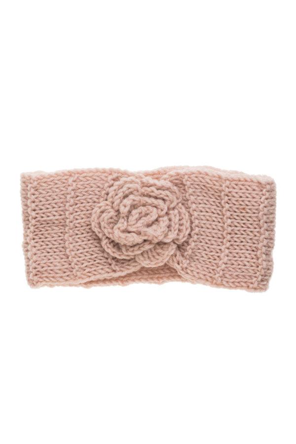 Ροζ Πλεκτή Κορδέλα Μαλλιών Rip Με Λουλούδι