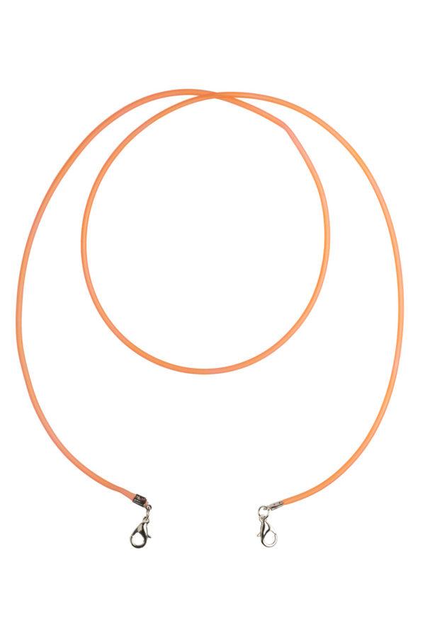 Πορτοκαλί Λεπτό Κορδόνι Καουτσούκ Αξεσουάρ Μάσκας Προστασίας
