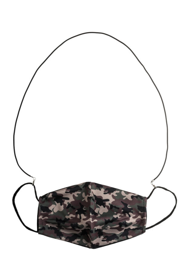 Μαύρο Λεπτό Κορδόνι Καουτσούκ Αξεσουάρ Μάσκας Προστασίας