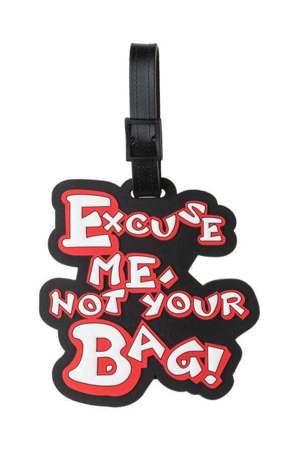 Μαύρη Ετικέτα Βαλίτσας Excuse me Not Your Bag Luggage Tag