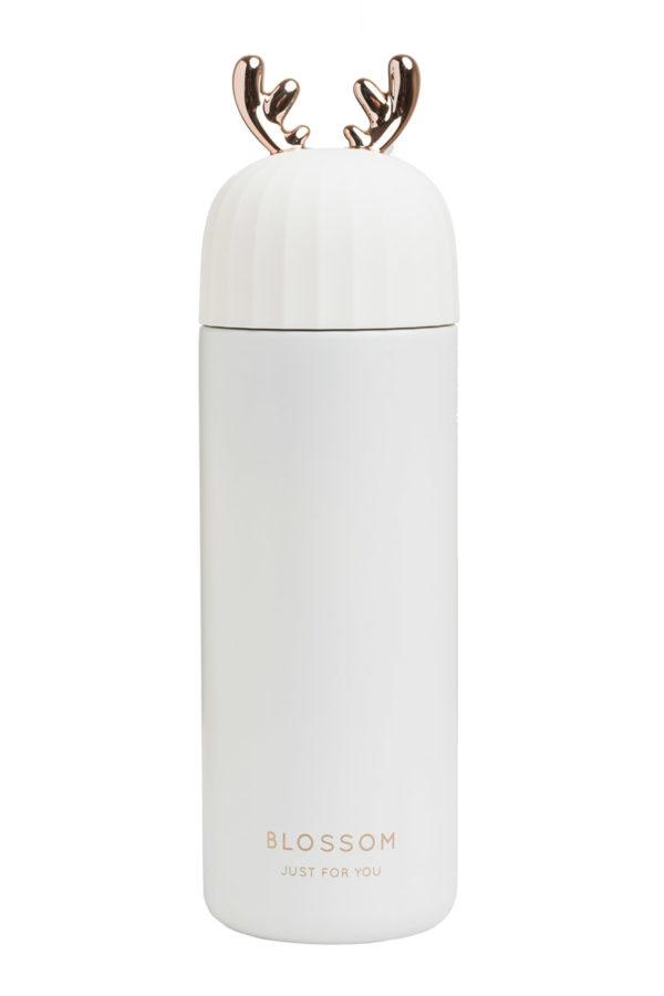 Ανοξείδωτος Θερμός Υγρών Χρυσαφί Κέρατα Άσπρος 400ml