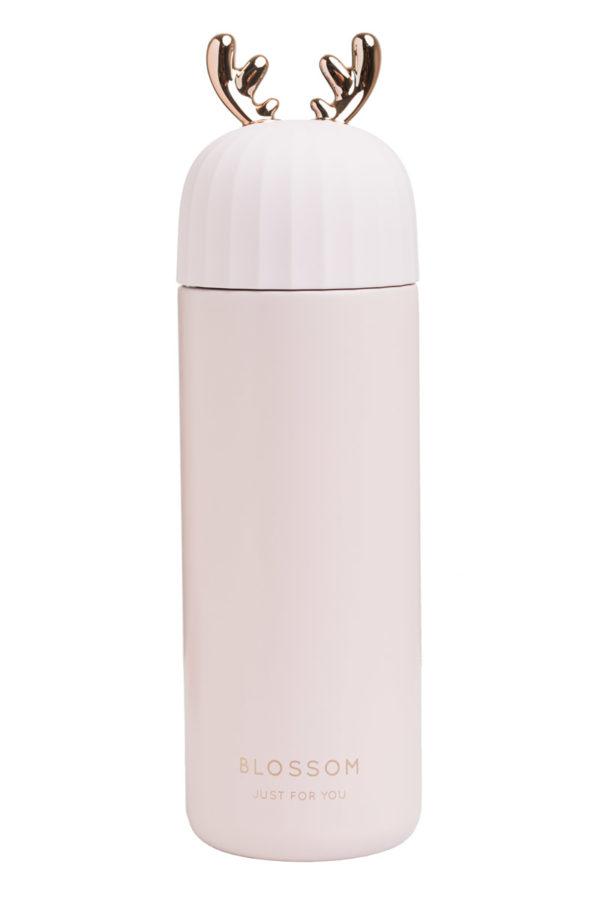 Ανοξείδωτος Θερμός Υγρών Χρυσαφί Κέρατα Ροζ 400ml