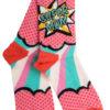 Ψηλές Γυναικείες Κάλτσες με Pop Σχέδιο Super Mom