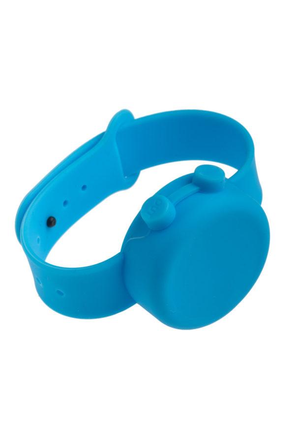 Γαλάζιο Βραχιόλι Σιλικόνης Dispenser για Αντισηπτικό Ενηλίκων-Παιδιών