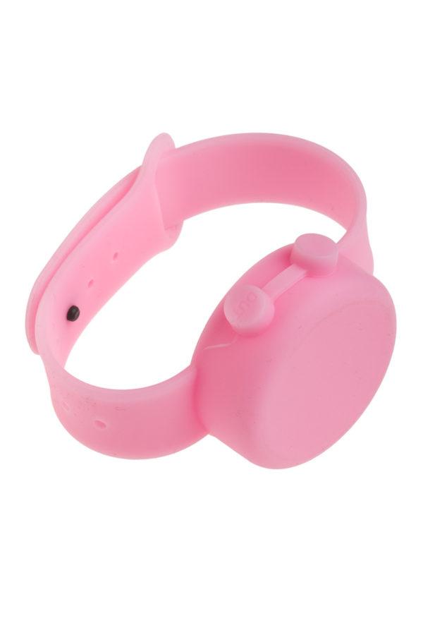 Ροζ Βραχιόλι Σιλικόνης Dispenser για Αντισηπτικό Ενηλίκων-Παιδιών