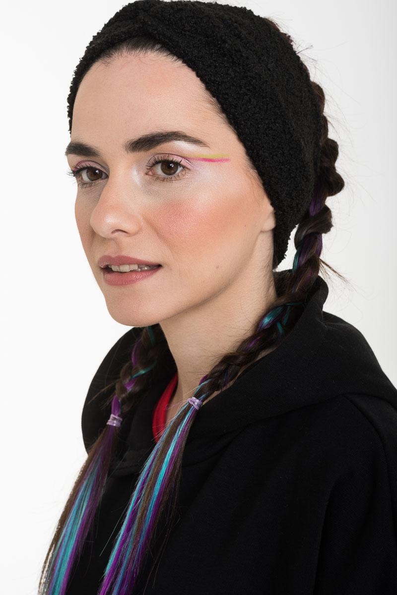 Μαύρη Μπουκλέ Κορδέλα Μαλλιών Τουρμπάνι
