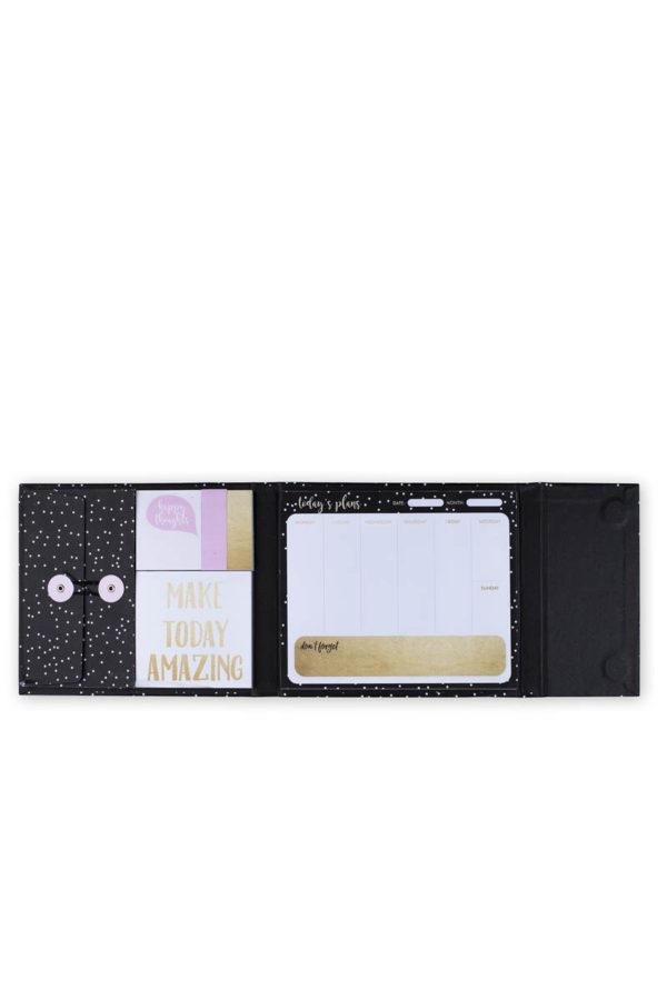 Εβδομαδιαίο Planner Magnetic Black Dots Tri-Coastal Design