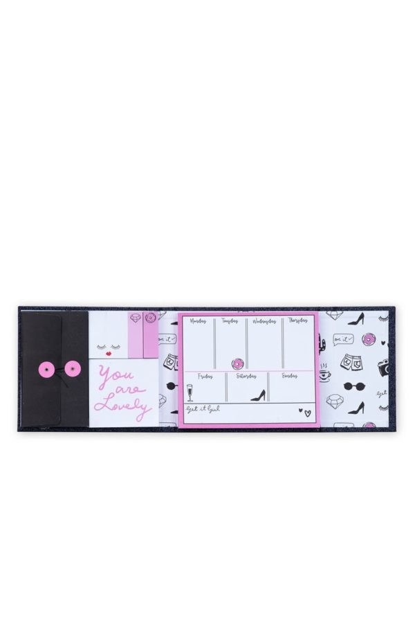 Εβδομαδιαίο Planner Magnetic Black Glitter Tri-Coastal Design