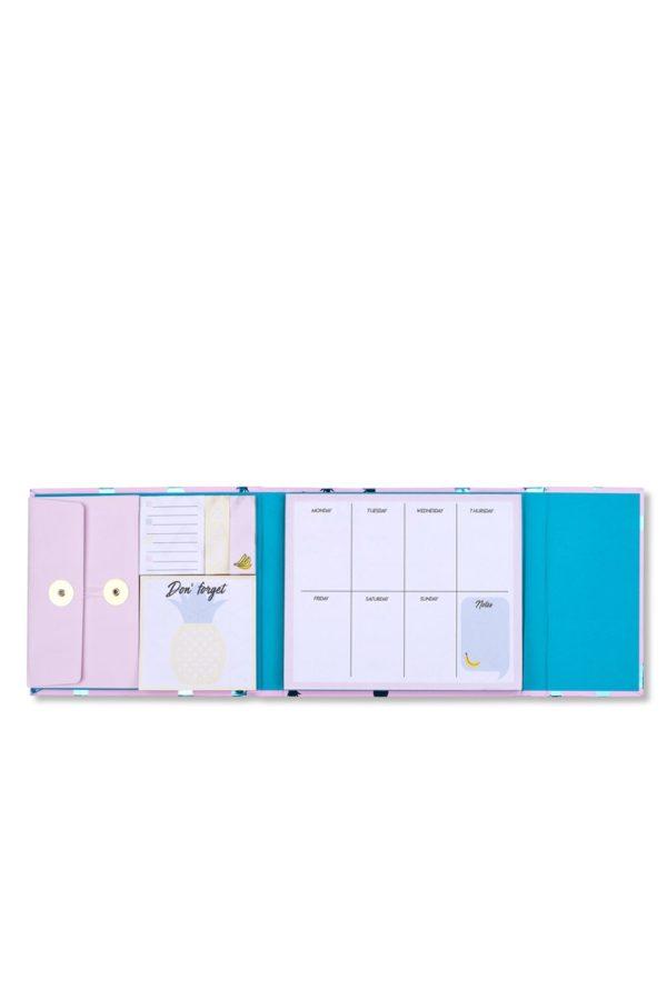 Εβδομαδιαίο Planner Magnetic Pink Ananas Tri-Coastal Design