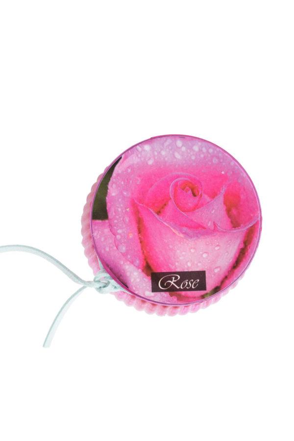 Αρωματικό Κερί Rose σε Γυάλινο Βαζάκι 8 εκ.