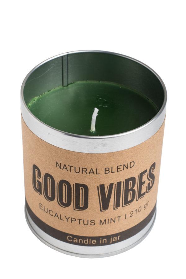 Αρωματικό Κερί Eucalyptus σε Μεταλλικό Good Vibes 210γρ.