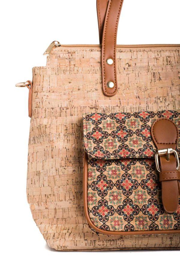 Γυναικεία Τσάντα Ώμου Φελλός Tiles