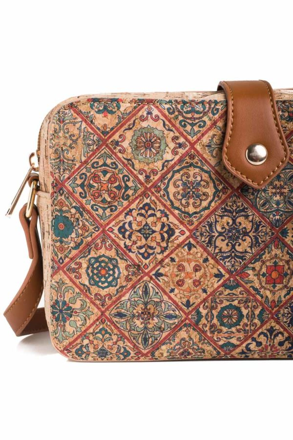 Γυναικεία Τσάντα Από Φελλό Χιαστί Tiles