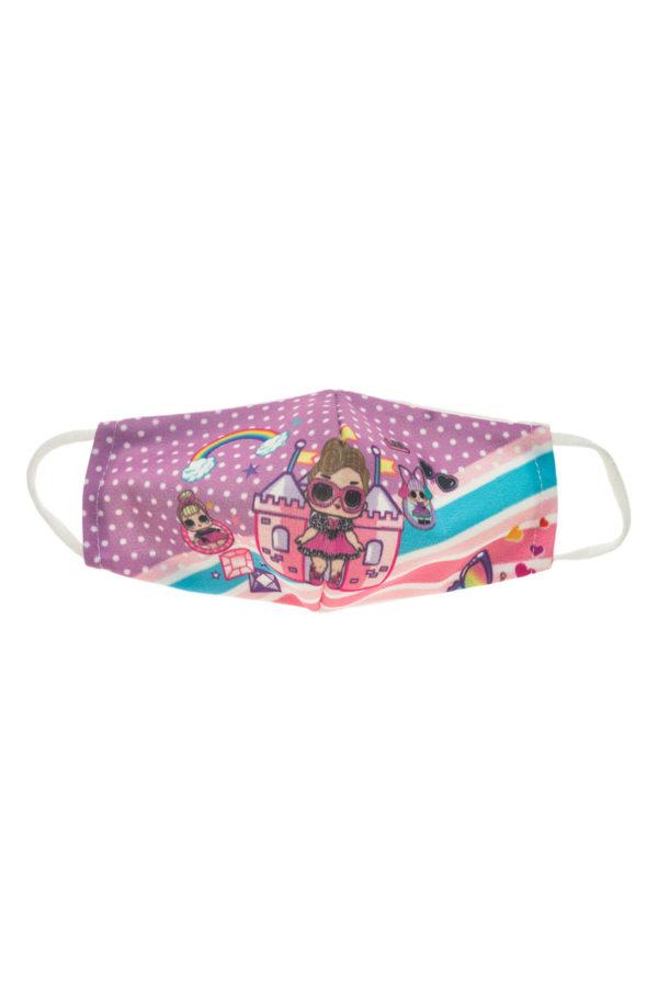 LOL Rainbow Παιδική Υφασμάτινη Μάσκα Επαναχρησιμοποιούμενη