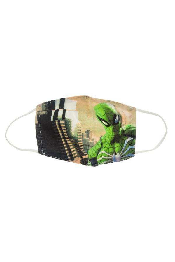 Πράσινος Spiderman Παιδική Υφασμάτινη Μάσκα Επαναχρησιμοποιούμενη