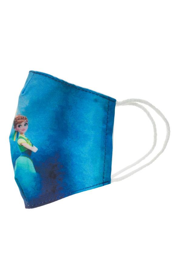 Elsa & Anna Frozen Παιδική Υφασμάτινη Μάσκα Επαναχρησιμοποιούμενη