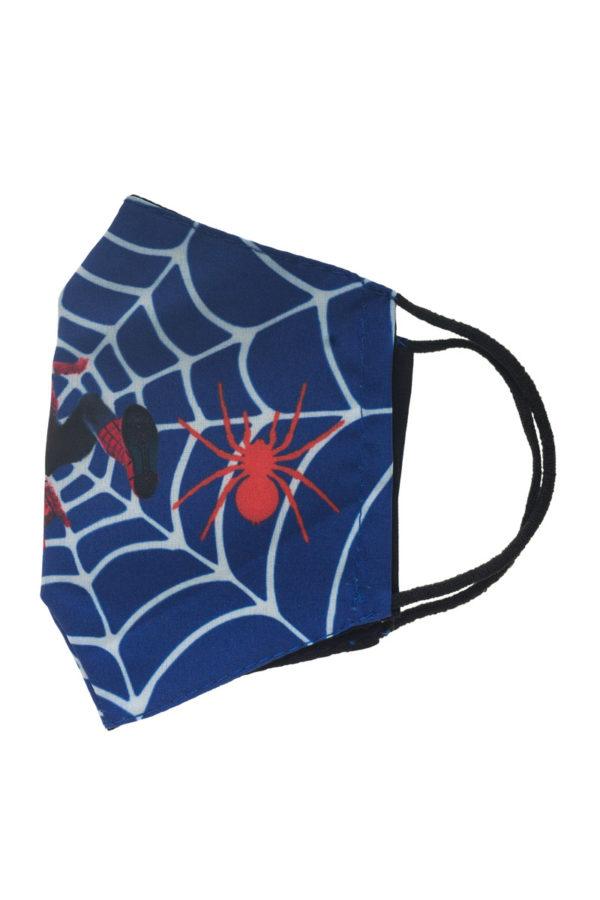 Μπλε Ιστός Spiderman Παιδική Υφασμάτινη Μάσκα Επαναχρησιμοποιούμενη