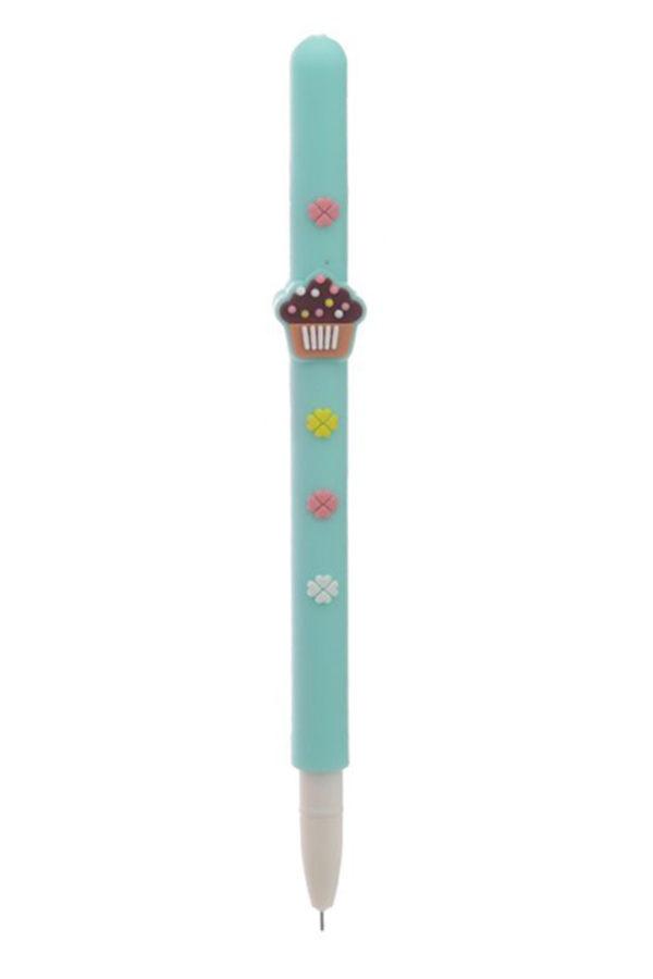 Γαλάζιο Cupcake Στυλό Σιλικόνης με Άρωμα Rollerball