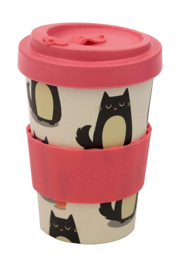 Ποτήρι Καφέ Feline Fine Cat Bamboo Coffee Cup