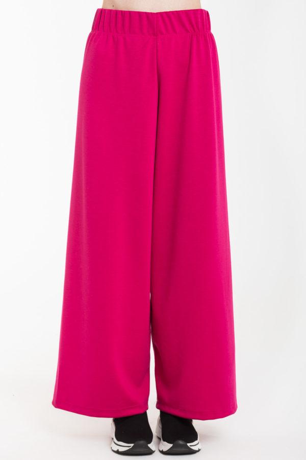Φούξια Παντελόνα με Ελαστική Μέση