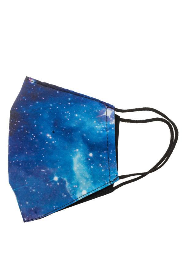 Μπλε Galaxy Παιδική Υφασμάτινη Μάσκα Προστασίας Επαναχρησιμοποιούμενη