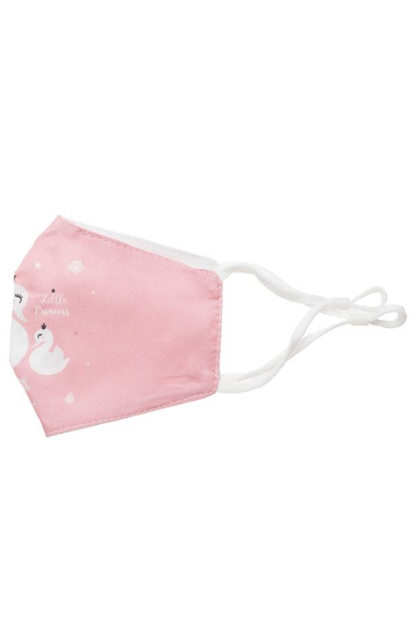 Ροζ Κύκνοι Παιδική Υφασμάτινη Μάσκα Προστασίας Επαναχρησιμοποιούμενη
