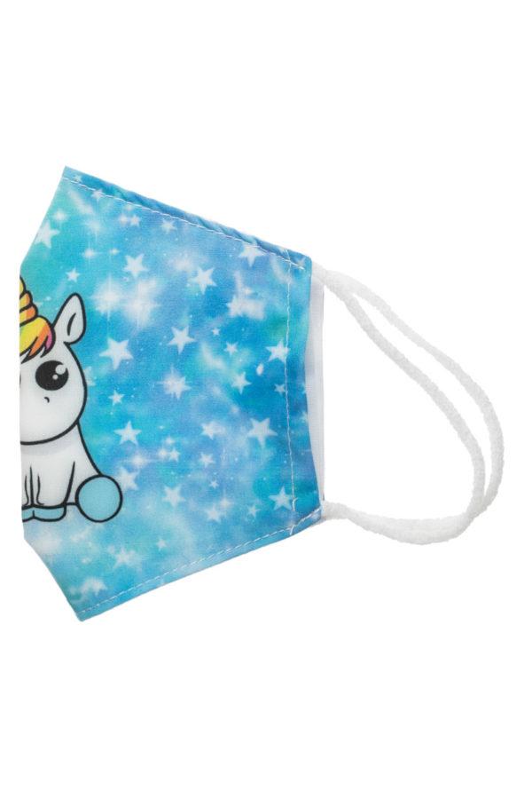 Unicorn Galaxy Παιδική Υφασμάτινη Μάσκα Προστασίας Επαναχρησιμοποιούμενη