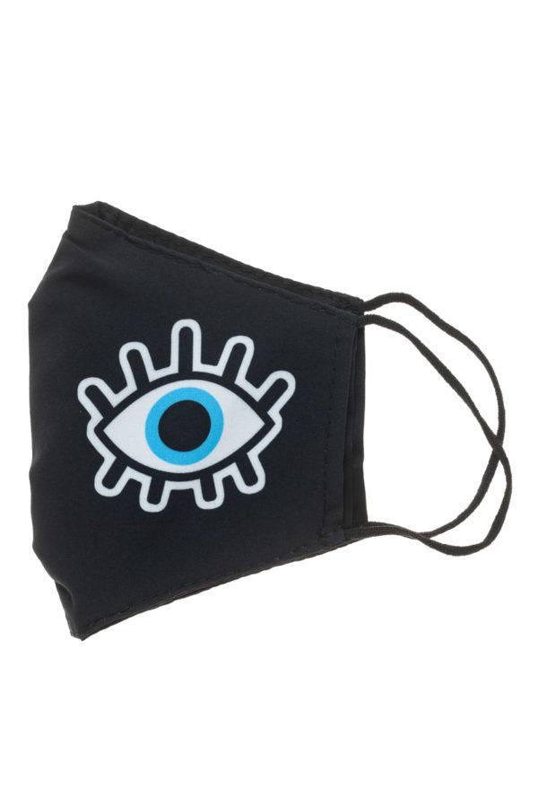 Μάτι Μαύρη Υφασμάτινη Μάσκα Προστασίας Επαναχρησιμοποιούμενη