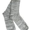 Χακί Απαλές Χνουδωτές Πλεκτές Κάλτσες Χειμωνιάτικες