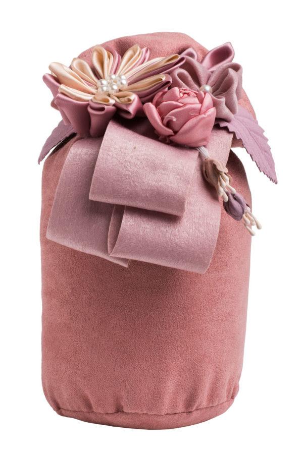Ροζ Μαξιλάρι Πουγκί με Λουλούδια Αρωματικό Χώρου Bamboo Charcoal