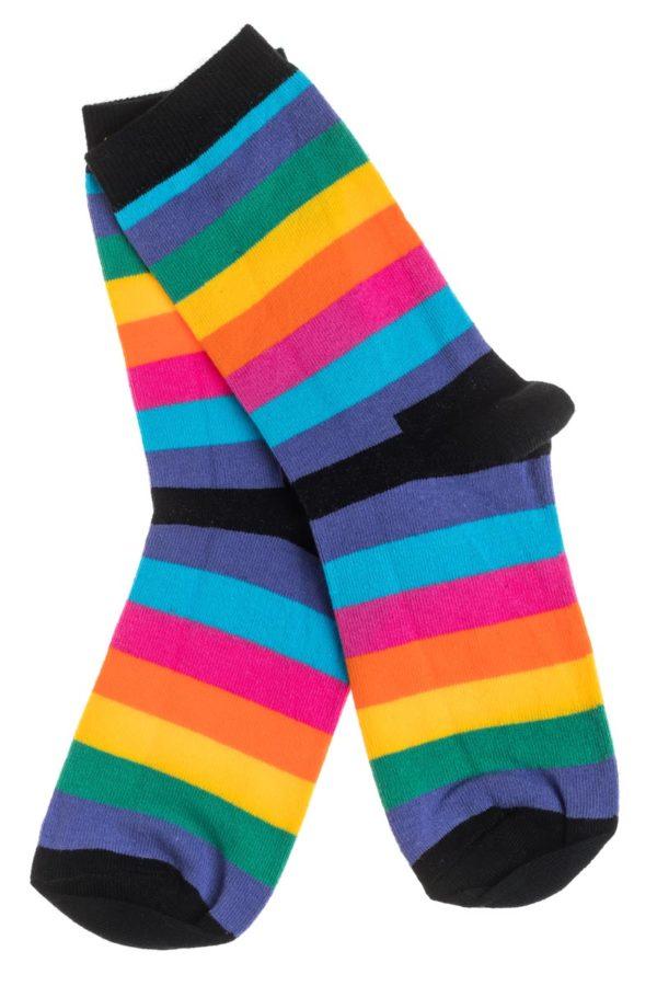 Ψηλές Γυναικείες Κάλτσες με Σχέδιο Multi Stripes
