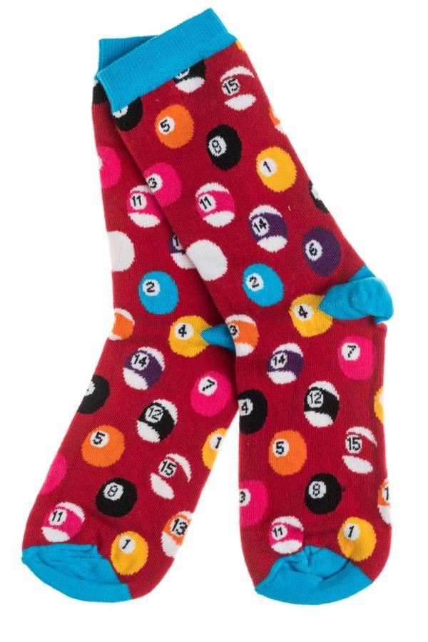 Ψηλές Γυναικείες Κάλτσες με Σχέδιο Μπάλες Μπιλιάρδου
