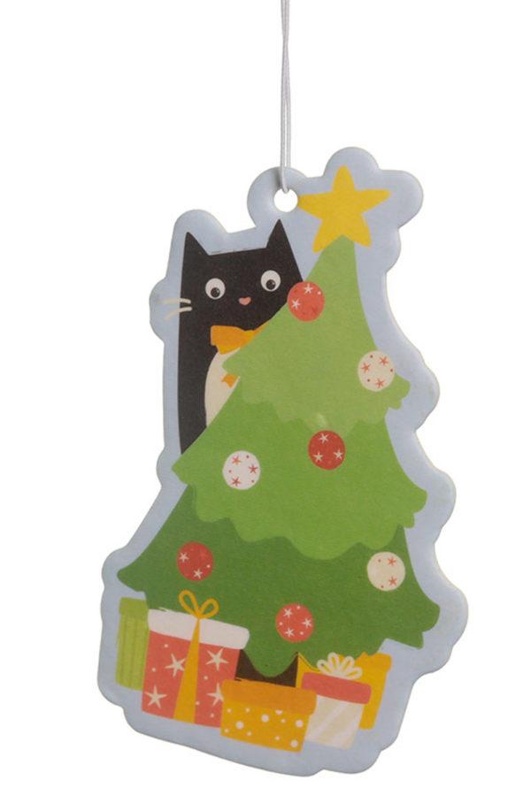 Γιορτινό Αρωματικό Αυτοκινήτου & Χώρου Feline Tree Cat Cinnamon