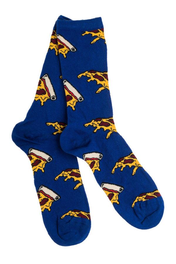 Ψηλές Γυναικείες Κάλτσες με Σχέδιο Μπλε Πίτσες